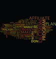 the answer is an ad tracker for affiliate vector image vector image