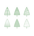 this is a set of green christmas tree icons vector image