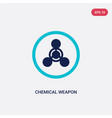 two color chemical weapon icon from industry vector image