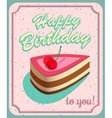 Vintage Birthday Card Grunge effects can be vector image vector image