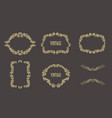 vintage floral frames set of gold borders vector image vector image