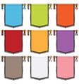 wall hanging banners vector image vector image