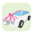 wedding car cartoon icon vector image