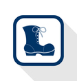 work boots flat icon vector image