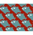 Fish seamless pattern Naval Piranha predatory fish vector image