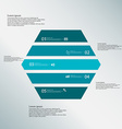 Hexagon template consists of five blue parts on vector image