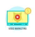 video marketing and income from popular content vector image