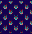 dragon seamless on navy blue background vector image