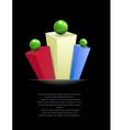 Presentation background vector image