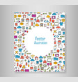 book all line icons color of technology school vector image