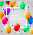 greeting card with frame and lot of colorful vector image