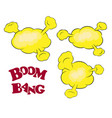 set of comic book explosion vector image