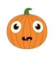 a bored pumpkin vector image vector image