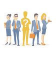 a business team standing together in the vector image vector image