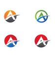 a letter symbol design vector image