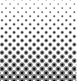 Abstract monochrome circle pattern design vector image vector image