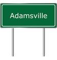 adamsville alabama usa road sign green vector image vector image