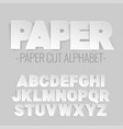 alphabet letters cut out of paper vector image vector image
