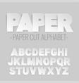 alphabet letters cut out paper vector image
