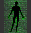 artificial intelligence silhouette of a man body vector image