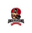 awesome underground fitness logo design vector image