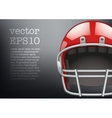 Background of American football helmet vector image vector image