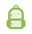 backpack flat icons schoolbag vector image vector image