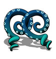 blue octopus tentacle isolated on a white vector image