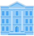 building icon house city business office vector image