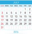 Calendar month vector image vector image