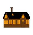cartoon house on white background vector image