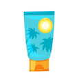 cartoon style of sunblock tube vector image