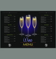 champagne glass concept vector image