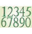 collection green numbers made swirls vector image vector image