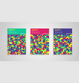 colorful geometric covers background set vector image vector image