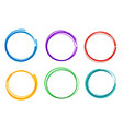 colorful hand drawn cirlce set collection ring vector image