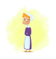 cute cartoon grandmother from fairy tale vector image