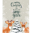 cute deer amazing winter vector image vector image