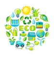 Ecology Cartoon Composition vector image vector image