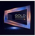 elegant shining banner with glitter light effect vector image vector image