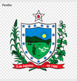 emblem of paaraiba state of brazil vector image vector image
