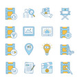 film industry color icons set vector image vector image