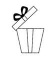 Giftbox present open isolated icon