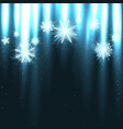 glowing snow falls from above vector image vector image