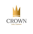 golden sign crown king design modern logos vector image vector image