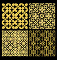 Golden spanish traditional kitchen tiles vector image