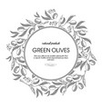 green olives round wreath sketch composition vector image vector image