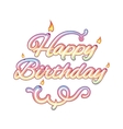 Happy birthday isolated text vector image