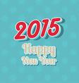 happy new year typography 0210 vector image vector image