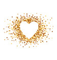 holden hearts confetti on white background with vector image
